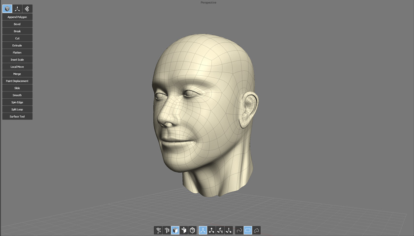 Finished head