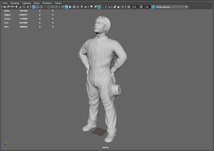 Posed figure