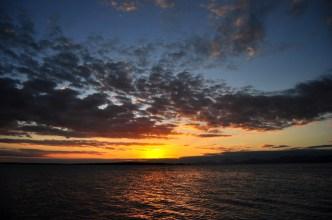 Pôr do Sol do primeiro dia.