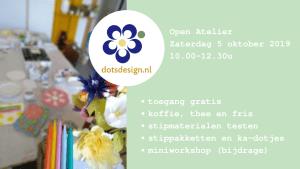 Open Atelier Herfsteditie zaterdag 5 oktober @ Dots Design kadeatelier