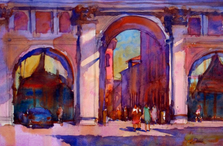 arcade-bologna-italy-watercolor-email