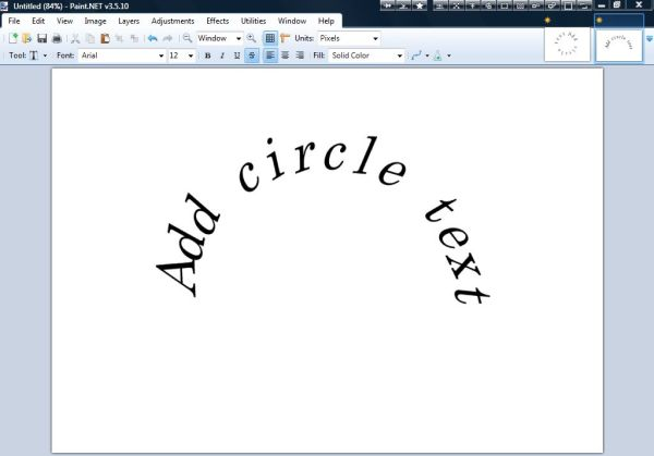 How to make a curved text in Paint.NET [Tip] | Reviews ...