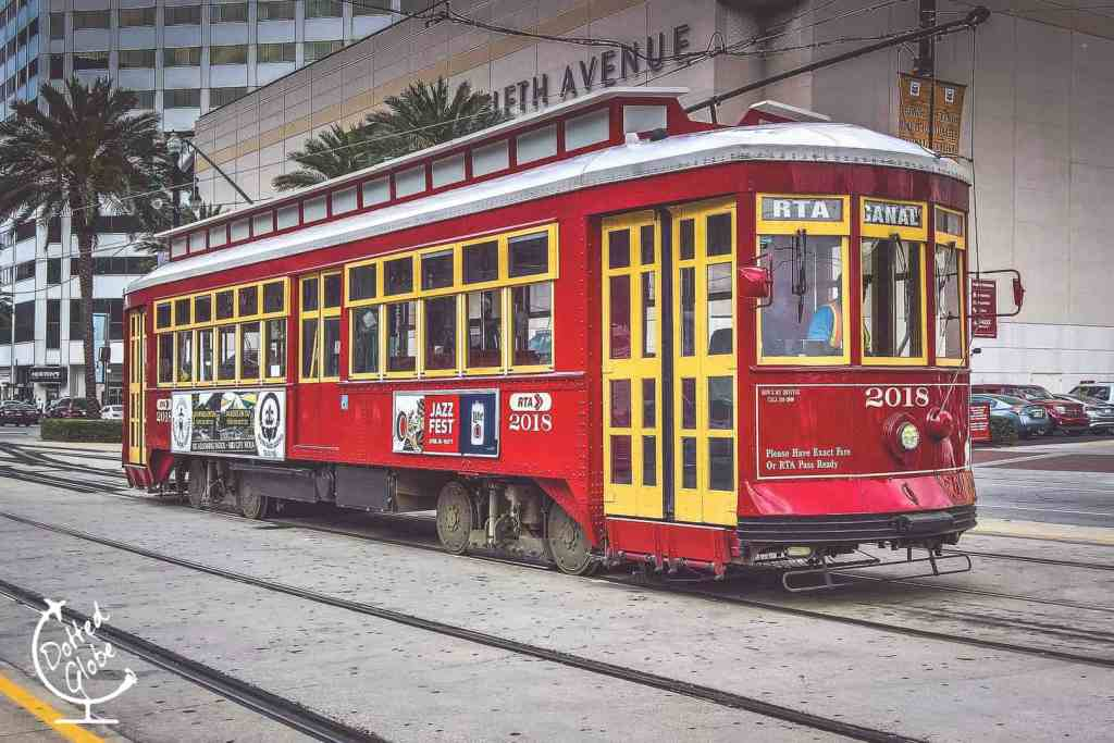 Streetcar in New Orleans, one of the fun things to do in New Orleans with teens