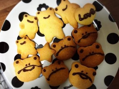 手作りお菓子『けろけろクッキー』を作ってみました