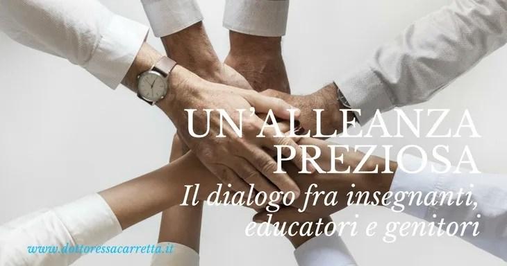 Il dialogo fra insegnanti, educatori e genitori: un'alleanza preziosa