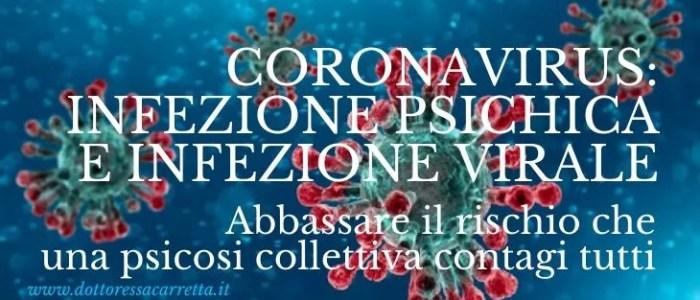 Coronavirus: infezione psichica e infezione virale