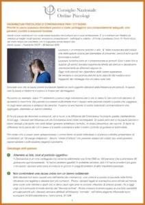 Vademecum psicologico Coronavirus per i cittadini a cura del CNOP