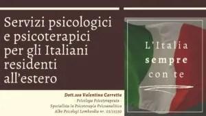 Servizio online di Consulenza Psicologica e Psicoterapia Psicoanalitica per Italiani residenti all'Estero