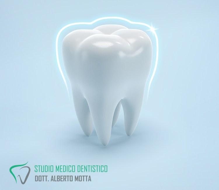 Dente sano grazie alla laserterapia che non danneggia la struttura del dente