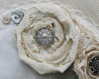 Roses created from lace