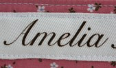 Name and Birth date are printed onto the fabric