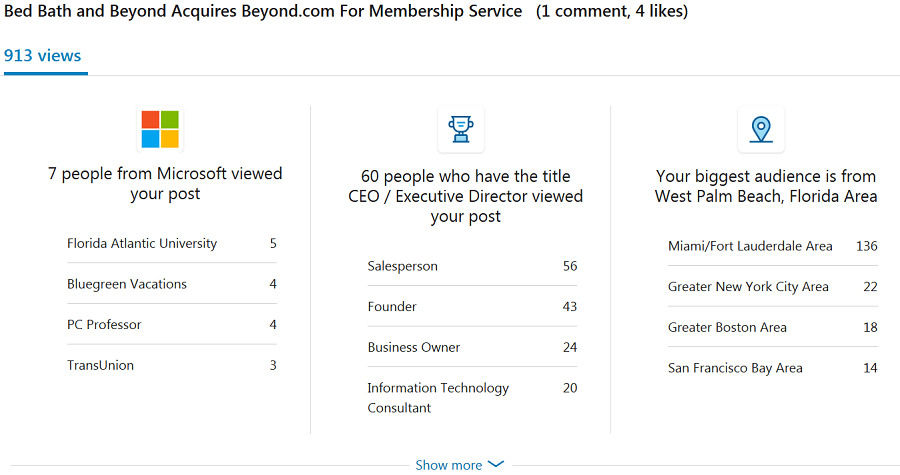 Beyond Linkedin Stats