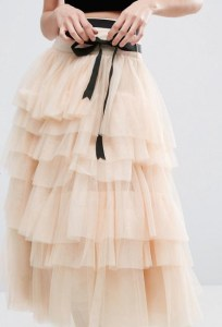 cream tulle front