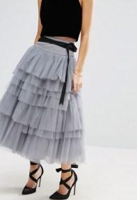 tulle skirt grey 3