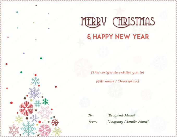 Christmas Gift Certificate (Christmas Tree Design)