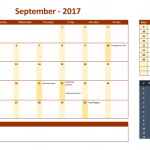 September 2017 Calendar with Holidays