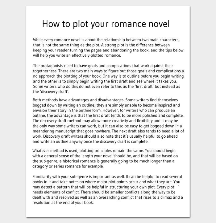 Novel Outline Template 11 For Word Excel Amp PDF Format