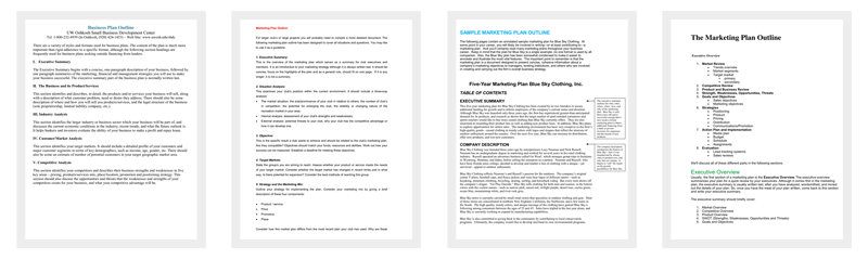 Marketing Plan Outline Templates