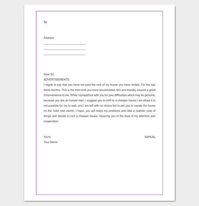 Tenant Warning Letter from Landlord