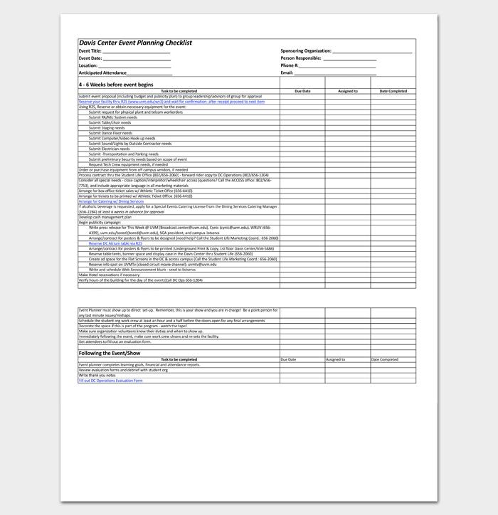 Event–Planning Worksheet 1