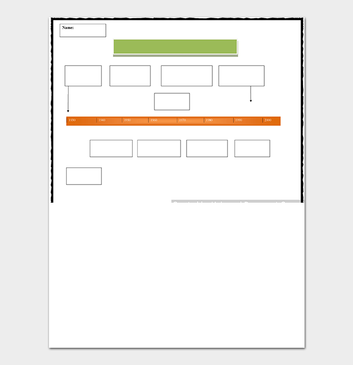 Biography Timeline Template WORD