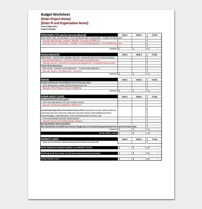 Budget Process Timeline Sample