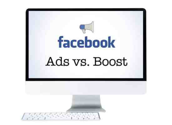facebook ads vs boosted post
