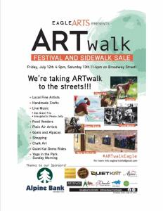 artwalk sidewalk sale