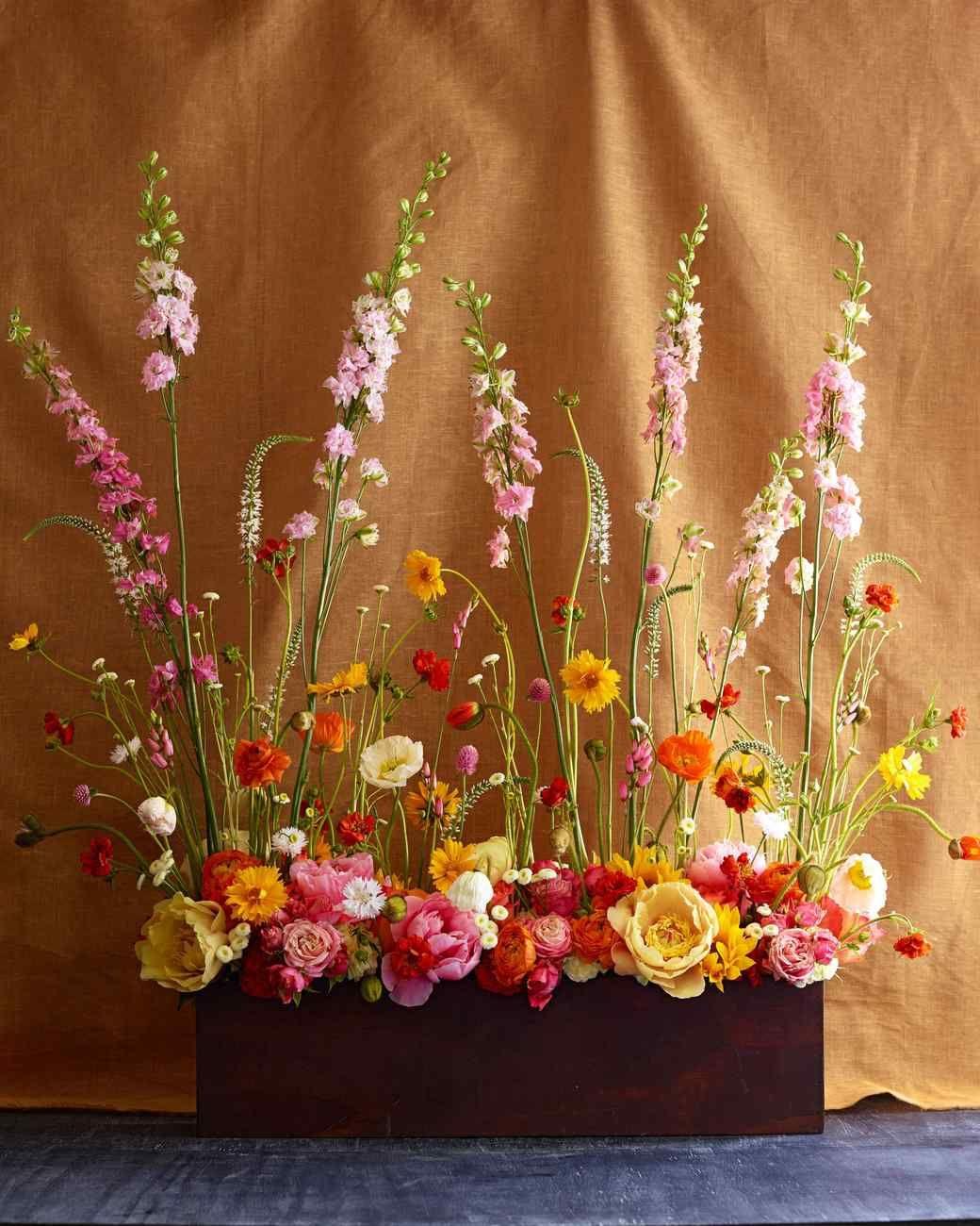 bohemian floral centerpiece