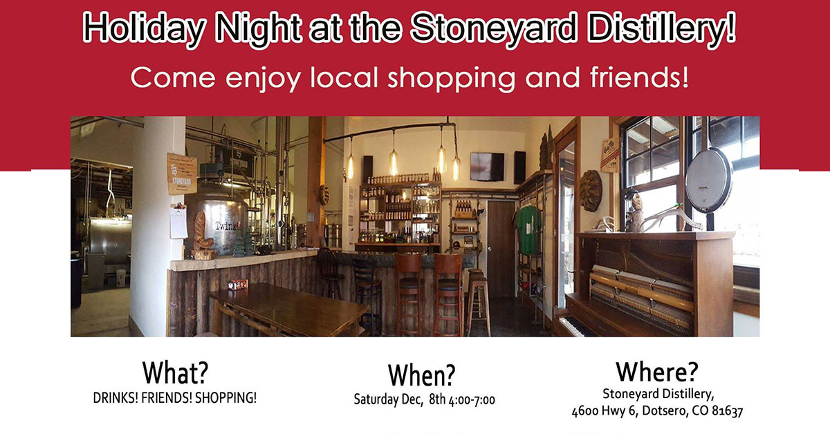 stoneyard distillery holiday night