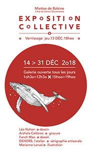 Exposition collective à la galerie miettes de baleines à Douarnenez