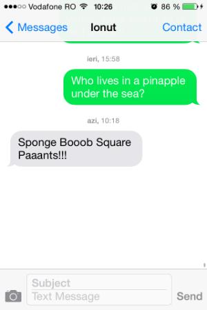 text spongebob