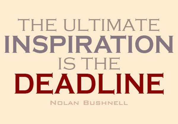 Inspiration to meet deadline Double-Barrelled Travel