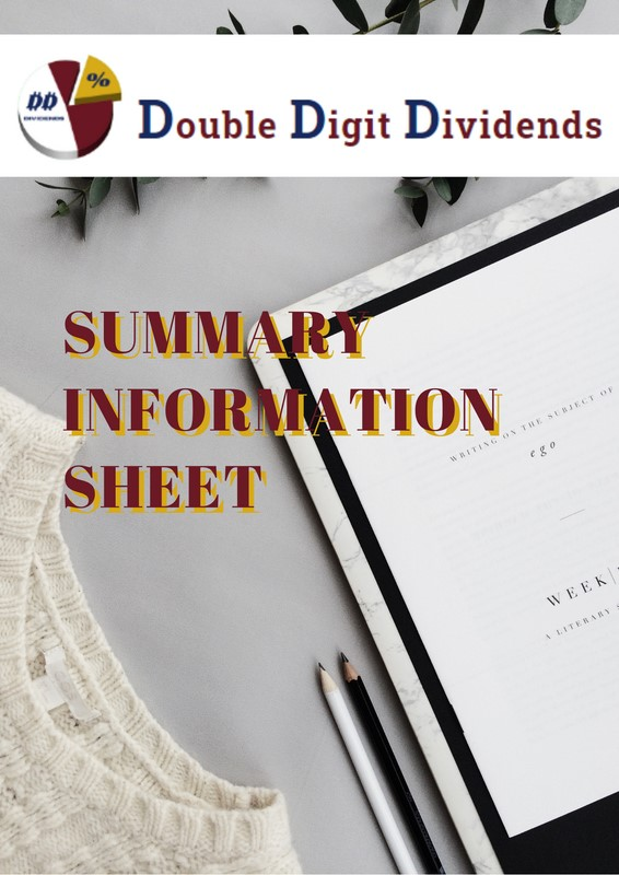Summary Information Sheet cover