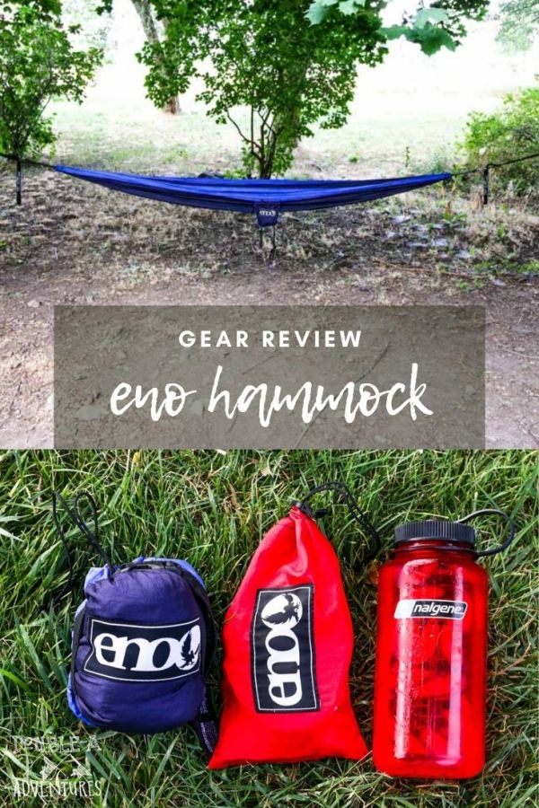 The Eno hammock is one of our favorite pieces of gear, we actually leave it up in our yard all the time! Here is what we love about it.