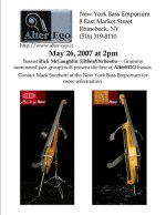 Rick McLaughlin shows basses on 5/26 in Rhinebeck NY