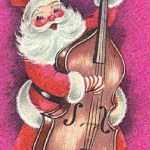 Santa plays the bass