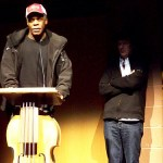 Danny Glover speaks from double bass podium at Sundance