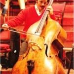 Barry Lieberman with his Maggini double bass