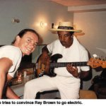 Ray Brown playing Jaco's bass