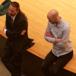 Trevor Jones and Jason Heath talk music school options at the 2016 Chicago Bass Festival