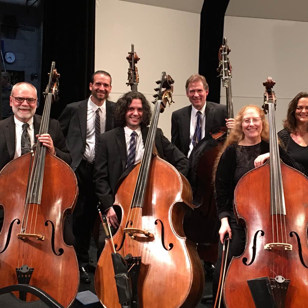 Here's the Elgin Symphony bass section at my final concert as a member. These folks rock!