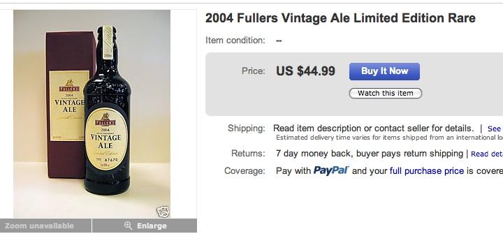 Fullers VIntage Ale Ebay