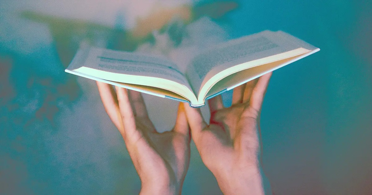 DoubleBlind: A Psychedelic Creative Image of someone holding a book