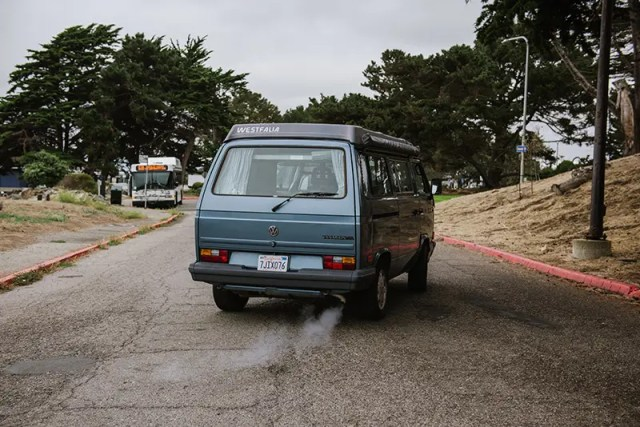 DoubleBlind: Image of blue Volkswagen van. In this article, DoubleBlind explores how Rabbi Zac Kamenetz is using psilocybin and psychedelics to reignite Judaism.