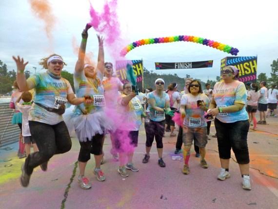 color run finish line