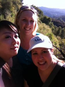 Aya, myself, and Kristin on our first hike ever!