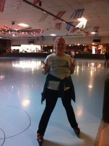Roller blading queen!