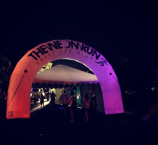 Blacklight Tent at the Neon Run