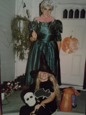 Tommy (8)  as some scary dude, Alyssa (11) as a witch, and April (13)  as Mimi from the Drew Carey Show as a princess